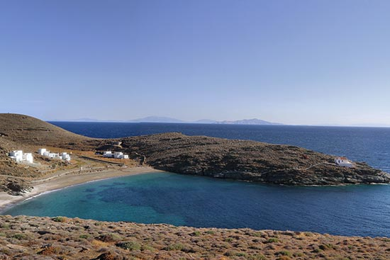 Driving to our location in Kythnos